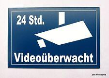 24 Std. Videoüberwacht,Videoüberwachung,Gravurschild,15 x 10 cm,Hinweisschild,u