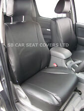 VW CADDY MAXI LIFE SEAT COVERS - 7 SEATER CUSTOM FIT BLACK  LEATHERETTE CSC500