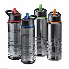 Flip Straw Tritan Drinks Sport Hydration Water Bottle Cycling Hiking Camping