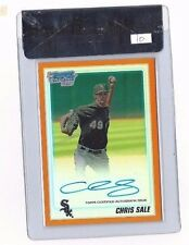 CHRIS SALE 2010 BOWMAN CHROME ORANGE REFRACTOR AUTOGRAPH RC # 4/25 AUTO BGS 9/10