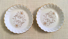 "2 HAVILAND Limoges MARNELLE Coaster/Butter Dish 4.5"" Torse shape France VG"