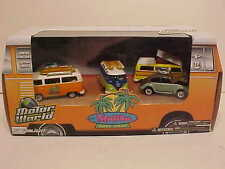 5 pack VW Malibu Beach Surfer Scene Diecast 1:64 Greenlight 3 inch Motor World