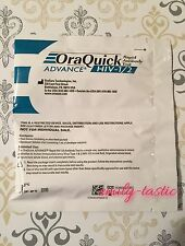 Oraquick Advance HIV-1/2 Rapid Antibody Test PRIVATE LISTING JUN 2017 Fast Ship!
