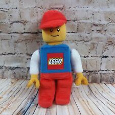 """Lego Guy Minifigure Plush w Red Hat Articulated Arms 12.5"""" Stuffed Toy Doll"""