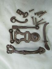 Vintage cast iron thumb door pull latch 6 in. farm house screen door #1