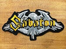 Sabaton Sew Iron On Patch Embroidered Heavy Metal Rock Band Logo Music New