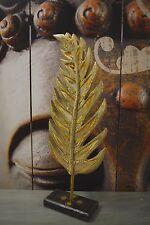Deko Element Blatt Spiegel Holz Bali Creme Indonesien Handmade 68 cm