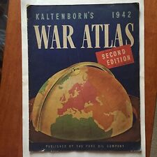 1942 War Atlas Pure Oil Company Premium WWII Home Front