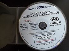 Hyundai Technician CD Workshop & Electrical Troubleshooting Manuals 2008 Models