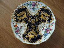 ANTIQUE PORCELAIN PLATE BOOTHS ENGLAND TIFFANY & CO. NEW YORK PEACOCK BUTTERFLY