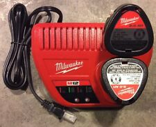 Milwaukee M12 12v Red Lithium Ion 2 Batteries 48-11-2420 & Charger 48-59-2401