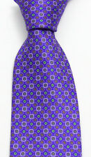 New Men's BRIONI Purple Green Gold Geometric Extra Fine Woven Silk Neck Tie