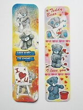 Teddy Bear 2pcs Cardboard Bookmarks 6.5'' lenght (16cm).
