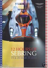 2010 ALMS 12 Hours of Sebring Lowes Aston Martin  Adrian Fernandez Hero Card