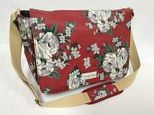 Gran Vintage Floral Rosa Bolso estilo mensajero, Cross Body Bag, Perfecto school/gym Bolsa!