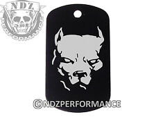 Dog Tag Military ID K9 Chain Silencer Laser Engraved BLK Dog Pitbull