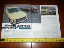 1976 BMW 2002 vs. 1979 ALFA ROMEO SPRINT VELOCE - ORIGINAL 2011 ARTICLE
