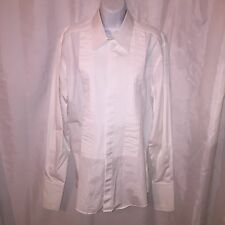 pre-loved auth DOLCE & GABANNA size 16.5 / 42 Box Pleat TUXEDO SHIRT french cuff