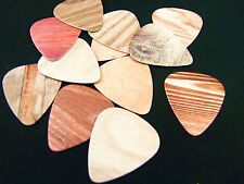 10x Guitar Picks Plectrums 0.71mm Musical Accessories Personal Wood Grain Effect