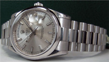 ROLEX - PLATINUM President Day-Date 36mm Silver Index Dial - 118206 - Sant Blanc