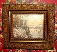 "Ornate Antique Gold Leaf Wood Picture Frame 16 1/4"" x 14 1/4"" holds 8"" x 10"""