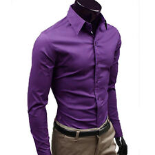 Fashion Mens Stylish Casual Formal Slim Fit Shirt Long Sleeve Luxury Dress Shirt