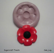 New Large Poppy Flower Silicone Mould,Sugarcraft, Cup Cake Card Topper, Fimo