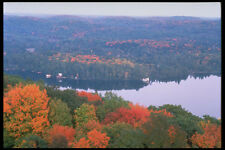 341064 Aerial View Of Haliburton Dorset Ontario A4 Photo Print