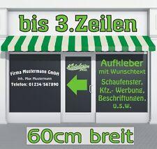 3 Zeilen - 60cm - Aufkleber Beschriftung Werbung Sticker Schaufenster Auto LKW
