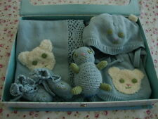 New April Cornell Baby Gift 5pc Set Blue Newborn Infant 1Y 18 Teddy Bear Blanket
