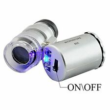 With LED Light Eye Magnifying New Microscope 60x Jewelry Loupe Magnifier Loop