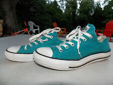 2000 Bright Teal Low Canvas Coverse Women's 7 FREE SHIPPING (used)