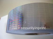 "Hologram Holographic security self-adhesive Tape ""ORIGINAL"" 50mm (w) x 1 metre"