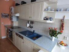 2 reihige Küchenzeile Landhaus Stil Einbau Küche m. Geräten Komplett 300 & 280cm