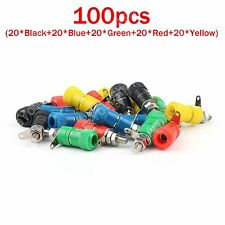 100x Binding Post Lautsprecher Terminal Für 4mm Bananen Stecker Banane Plug