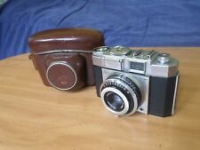 Nice Vintage Rare Zeiss Ikon Contina III 35mm Film Camera & Original Case German