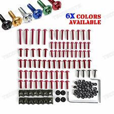 Red Fairing Bolts Kit Fastener Clips Screw Sportbikes Motorcycle Honda Ducati