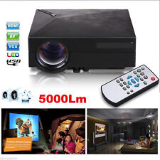 Bright Lumens HD LED Video Projector Home Cinema 3D FHD 1080P-HDMI Multimedia US