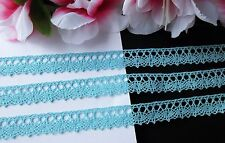 Sky blue color, lovely  lace trim ribbon  - price for 1 yard