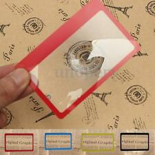 1/2/5PCS mini carta di credito lente d'ingrandimento tascabile custodia pocket