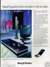 Publicité advertising 1991 Hi-Fi Televiseur Bang & Olufsen