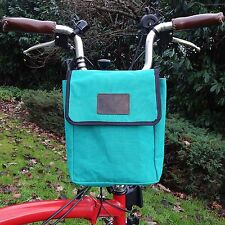 Canvas/Leather Handlebar Saddle Waxed Pounch for folding BROMPTON