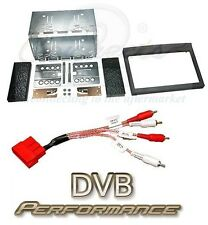 Porsche 911 996 Double Din Stereo Fitting Kit Black and Amplifier Adaptor
