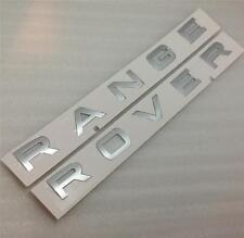 Original Range Rover Sport Bonnet Arranque Insignia Letras * Plata *