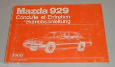 Betriebsanleitung Handbuch, Conduite et Entretien Mazda 929 HB Stand 1984