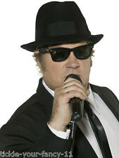 BRAND NEW BLUES BROTHERS HAT & GLASSES SUNGLASSES COSTUME FANCY DRESS