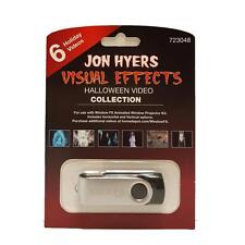 Halloween Window FX Jon Hyers Collection USB w/6 Videos for Projector Brand New!