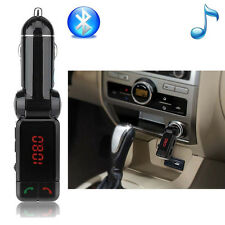 Quality LCD Bluetooth Car Set FM Transmitter MP3 USB Charger Handfree For iPhone