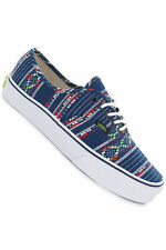 NEW VANS AUTHENTIC GUATE STRIPE BLUE SHOES MENS 3.5 WOMENS 5 NIB STRIPES SKATE