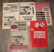 Vintage AAA Travel Guides , handy reference & Emergency Service books